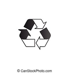 recycle symbol. Stock Vector illustration isolated on white background.