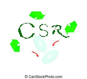 Recycle Symbol with Corporate Social Responsibility Concepts