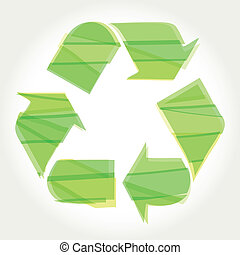 Recycle Symbol with Green
