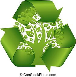 Recycle Symbol With Tree