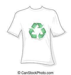 recycle t-shirt - illustration of recycle t shirt on white...