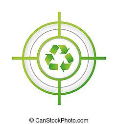 recycle target sign concept illustration design