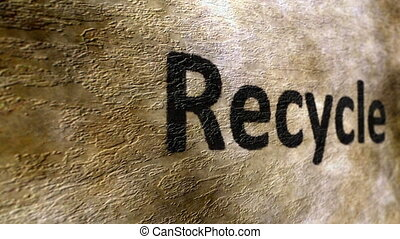 Recycle text on grunge background