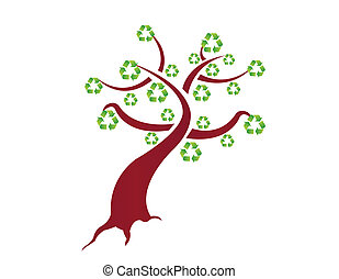 recycle tree illustration design