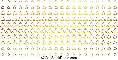 Recycle Triangle Golden Halftone Matrix