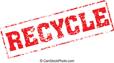 recycle - Grungy ink stamp, vector format very easy to edit