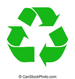 Recycle Vector - Vector illustration of a green Recycle...
