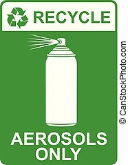 recycle vector sign - aerosols only