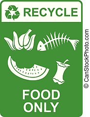 recycle vector sign ? food only