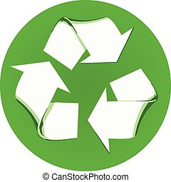 Recycle Vector Symbol Isolated on W