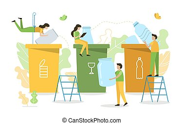 Recycle waste concept
