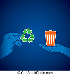 recycle waste product concept