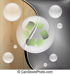 Recycle-Wooden metal background