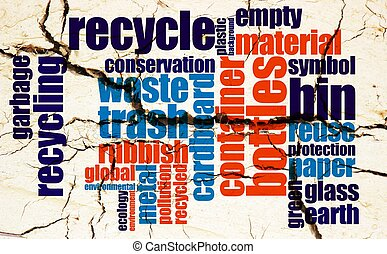 Recycle word cloud grunge concept