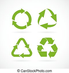 Recycled arrows vector icon