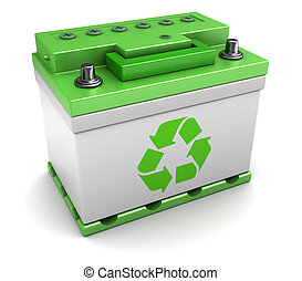 recycled car battery