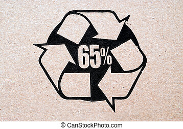 Recycled Cardboard - 65% recycled cardboard