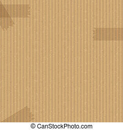 Recycled cardboard texture with sticky tape