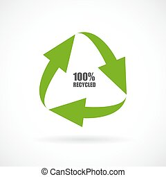 Recycled materials vector icon