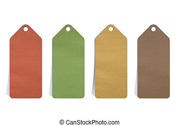 recycled paper blank price tag