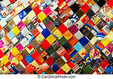 Recycled pattern - Colorful pattern made from recycled ...