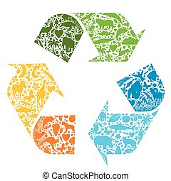 Recycled vector logo