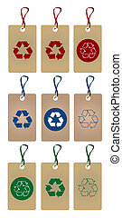 recycler, étiquettes