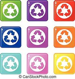 recycler, 9, ensemble, signe