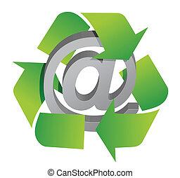 recycler, att, signe
