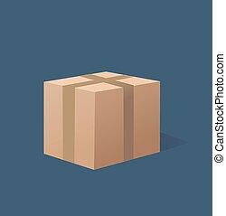recycler, boîte brune