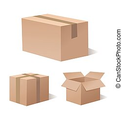 recycler, boîte brune, conditionnement
