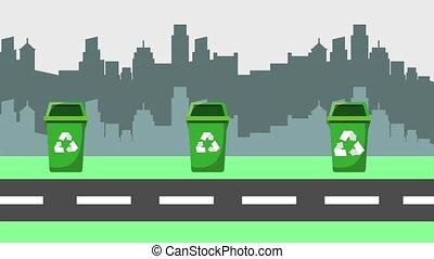 recycler, concept, écologie