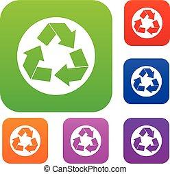recycler, ensemble, collection, signe