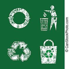 recycler, ensemble, signe