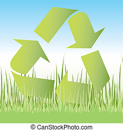 recycler, icône, symbole