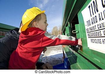 recycler, père, al, fils