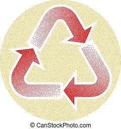 recycler, pointillez, effet