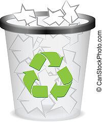 recycler, poubelle, plastique