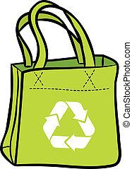 recycler, sac, achats