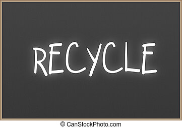 recycler, texte, tableau