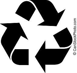 recycleren symbool, vector
