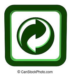 recyclez symbole, 3d