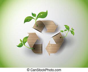 recyclez symbole, conservation, ou, signe