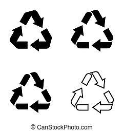 recyclez symbole, icônes