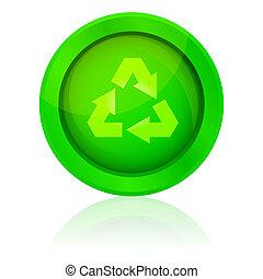 recyclez symbole, vecteur, icône