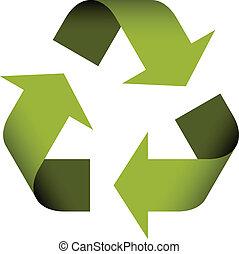 recyclez symbole, vecteur