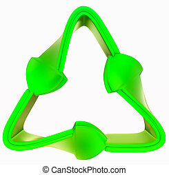recycling and environment: green symbol isolated