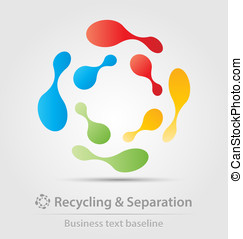 Recycling and separation business icon for creative design