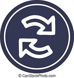 recycling arrow circular icon
