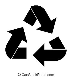 Recycling arrows in a circle.